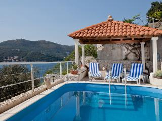 Dalmatian Villa with pool and private beach, Zaton