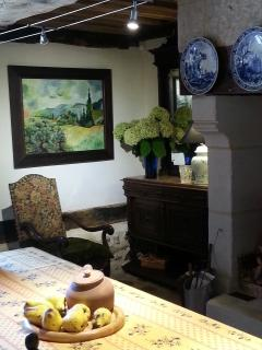 a corner in dining room