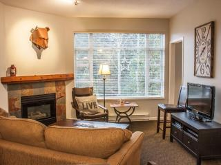 2 bedroom w/ hot tub acces overlooking Celebration Plaza!, Whistler