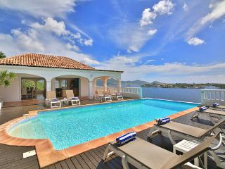 Enjoy views across Simpson Bay Lagoon and the Caribbean Sea from this traditional Caribbean villa. C SEY, Terres Basses