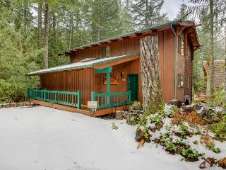 A woodland lodge with a private hot tub & media room!, Rhododendron