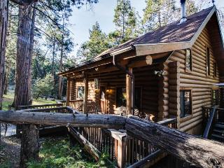 Natural log cabin w/guest house & game room!, Idyllwild