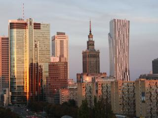 Apartment with swimming pool, sauna, gym & view, Warsaw
