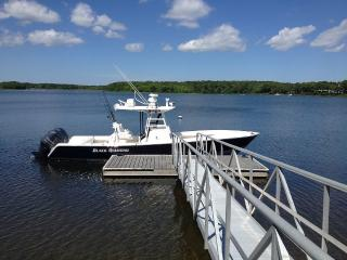 New Seabury Home with Private Dock Close to Beach