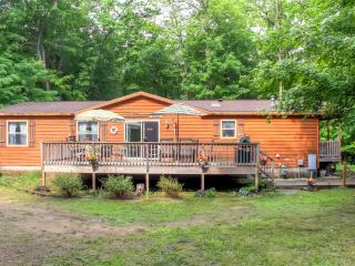 Cozy 3BR Lake Shore House w/Fire Pit, Large Deck & Gas Grill – Secluded Location, Across the Street from Gull Lake! Walk to Boat Landing, Swimming & More