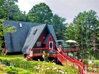 New Listing! Cozy & Beautiful 3BR Warrensburg A-Frame House w/Wifi, Wraparound Deck & Lovely Treetop Views - Minutes from Skiing, Golf, Shopping, Lakes & Many Other Notable Attractions!