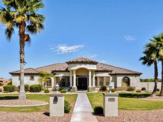 Custom-Built 4BR Goodyear House w/Private Tennis Court, Wifi, Huge Patio & Mountain Views - Close to Golf, Baseball Spring Training, Hiking & More!