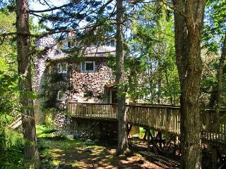 'Dragonwood Castle' - Whimsical 3BR Prospect Harbor Home on 6.7 Private Acres w/200 Feet of Water Frontage & Sweeping Views