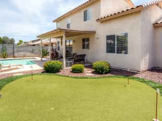 Exquisite 4BR Goodyear House w/Private Outdoor Pool, Putting Green, Wifi & Game Room - Near Baseball Spring Training, Nascar Track, Arizona Cardinals Stadium & More!