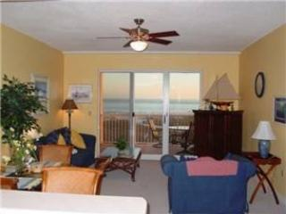 living room w/ private balcony and view of Gulf