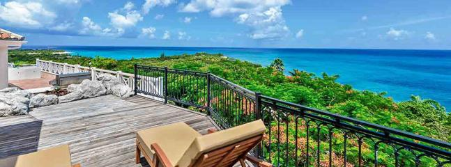 Villa L'Olivier SPECIAL OFFER: St. Martin Villa 85 From Any Vantage Point Along The Lengthy Sea-facing Deck You Feel Like You're On Top Of The World., Terres Basses
