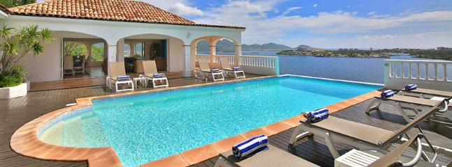 SPECIAL OFFER: St. Martin Villa 284 Exceptional Views Of Simpson Bay, The Sparkling Caribbean Sea And The Islands Of Saba, St Eustatius And St. Kitts., Terres Basses