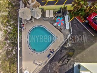 We are directly on the Beach, Balcony view & Pool, Ormond Beach