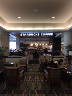 OUR LOBBY NOW CONTAINS A LARGE AND NEW STARBUCKS!