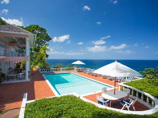 Emerald Seas is an elegant two-level private home with breath-taking views of the Caribbean Sea, Ocho Rios