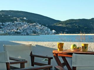 Beachfront Family Apartment with Spectacular Views, Skopelos