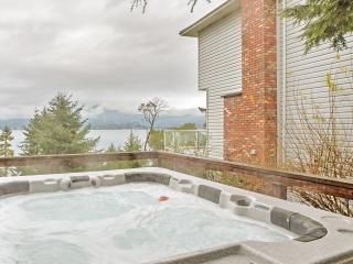 New Listing! Oceanfront 5BR Sooke House w/Wifi, Private Hot Tub & Panoramic Water Views from Large Wraparound Deck - Easy Access to Endless Outdoor Recreation!