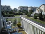 view from streetside deck