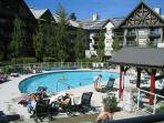 Luxury 2 bdm Ski in, ski out condo hot tubs, pool, view, free internet