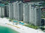 Silver Beach Towers 1102E w/ Free Bch Svc & Golf- Both Bedrms have Gulf View!