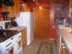 Falling Leaf Vacation Rental, Full Kitchen with Dishwasher