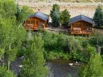 Premium 2 BR Cabin on Taylor River With Private Hot Tub at Three Rivers Resort in Almont (#17)