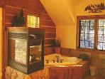 Suite With Massage Tub & Fireplace