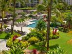 Overlooking the Swimming Pools From Ocean Dreams 2203