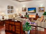 Luxury Furnishings and Large Flat Panel HD Television in the Great Room
