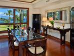 Interior Formal Dining Room with Mother of Pearl Inset Table and Mirror - Seating for 8