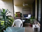 Lanai with fans and seating
