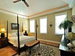 Master With Cathedral Ceilings and Four Poster Queen Bed
