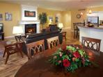 This spacious room is perfect for games, meals, wine & cheese nights and just relaxing!