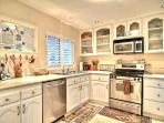Beautiful kitchen with everything provided.