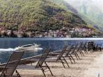 Our private Sand Lido w/Stunning Lake Como Views for swimming or renting a motorboat or just relax