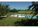Cottage with pool on Armagnac vineyard, SW France