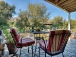 Enjoy one of our private patios