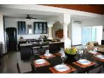 Open Living Spaces - Views of the ocean from Dining Room