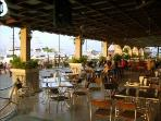 One of the restaurants on the islands at the Causeway