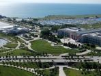 Our Museum Campus on Lake Shore Drive.   It's a 10 minute drive or 2 train stops.