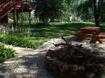 Picnic area, view of 3 acres that Lodge sits on