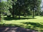 Nicely groomed 3 acres surrounding the Lodge