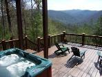 Let Your Cares Melt Away As You Enjoy The Beauty Of The Mountains From The Hot Tub!