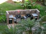 Enjoy the BBQ in the Tropical Garden