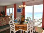 Dining Area has a View of Navarre Beach and the Navarre Sound