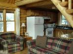Our cabins are well-appointed and feature a sofa bed in the living room for extra sleeping space.