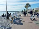 Lovely beachfront promenade, safe to walk on from morning to evening, where you will find fabulous r