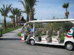 Many shuttles will take you anywhere you want to go in the development