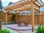 Pergola.. outdoor sitting area for guests