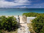 This beachfront villa is designer decorated, with a professional grade kitchen. VG BEA